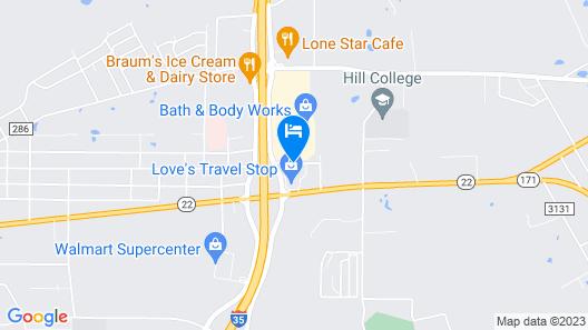 Motel 6 Hillsboro, TX Map
