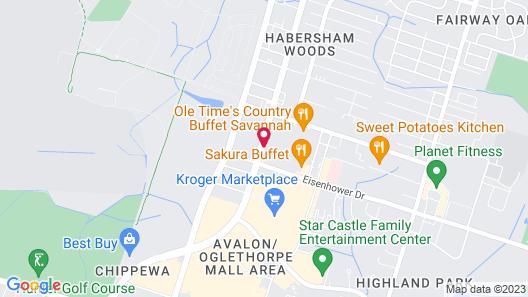 Quality Inn Midtown Map