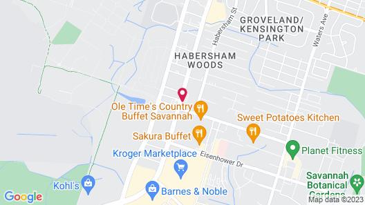 Clarion Inn & Suites Savannah Midtown Map