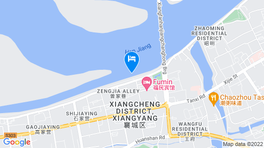Crowne Plaza Xiangyang Map