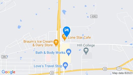 Holiday Inn Express : Hillsboro I-35, an IHG Hotel Map
