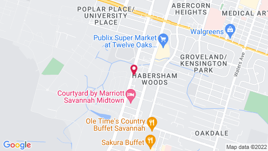 Baymont by Wyndham Savannah Midtown Map