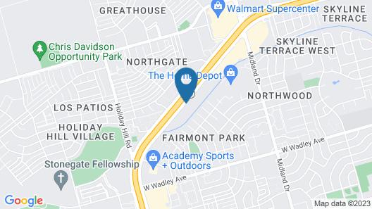Hampton Inn Midland Map