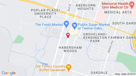 Hilton Garden Inn Savannah Midtown Map