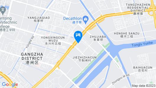 Greentree Inn Jiangsu Nantong Huida Square Yuejian Map