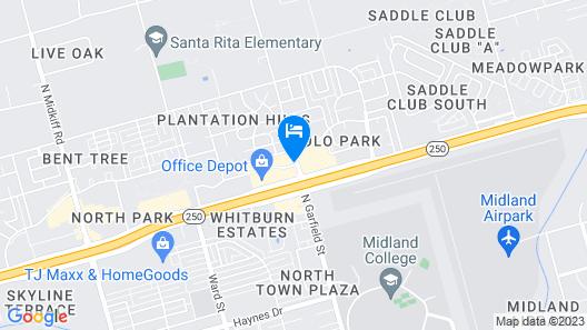 Fairfield Inn & Suites Midland Map