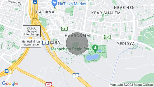 Tel Aviv Modern & Spacious 3 BR Luxury Apt in a Good Aria Close to the Lake Map