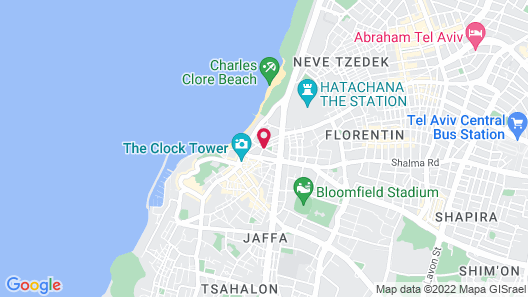 Sea N'Rent - 8 Shimon Ben Shetach Jaffa Map