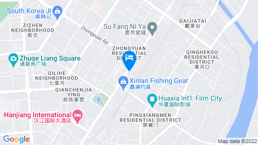 City Comfort Inn Xiangyang Railway Station Map