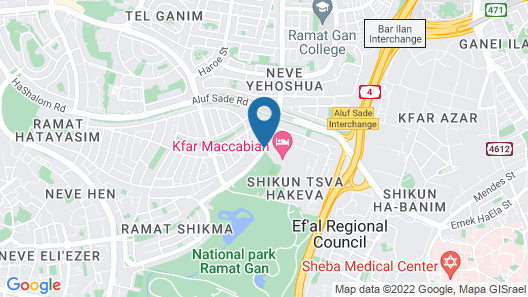 Kfar Maccabiah Hotel and Suites Map