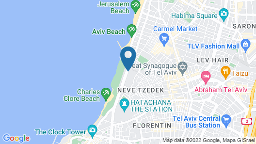 Dan Panorama Tel Aviv Map