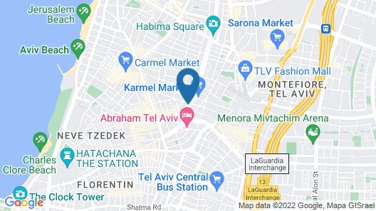 65 Hotel, Rothschild, Tel Aviv - an Atlas Boutique Hotel Map