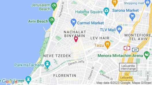 JI Neve Tzedek Tel Aviv Map