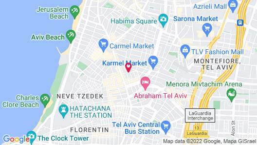 Hotel Montefiore Map
