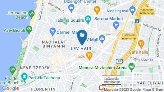 The Rothschild Hotel Tel Aviv's Finest Map