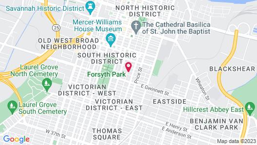 Savannah International Pensione - Hostel Map