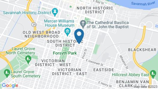 Justine Inn Savannah Map