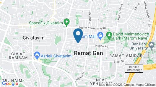 Dekel Guesthouse - Hotel Ramat Gan Map