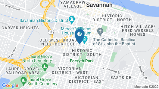 Savannah Bed & Breakfast Inn Map