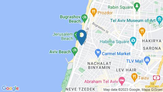 The Savoy Tel-Aviv, Sea Side Map