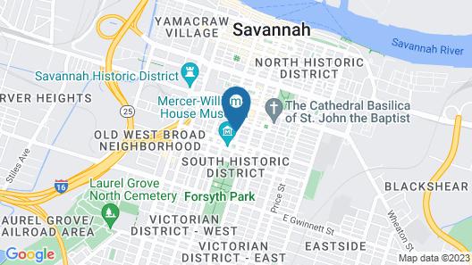 Eliza Thompson House, Historic Inns of Savannah Collection Map