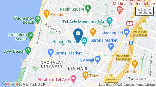 White Villa Tel Aviv Hotel Map