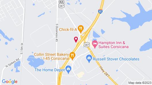 Motel 6 Corsicana, TX Map