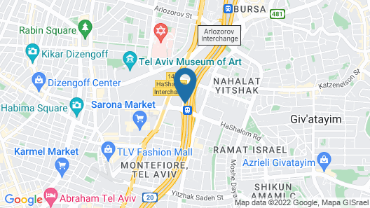 Crowne Plaza Tel Aviv City Center Map