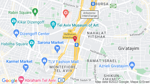 Crowne Plaza Tel Aviv City Center, an IHG Hotel Map