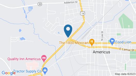 Motel 6 Americus, GA Map