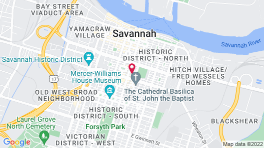 Perry Lane Hotel, A Luxury Collection Hotel, Savannah Map