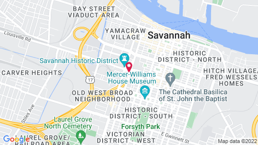 Courtyard by Marriott Savannah Downtown/Historic District Map