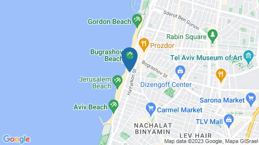 Beachfront Hostel Map