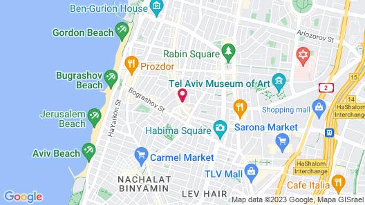 Butik Hostel TLV Map