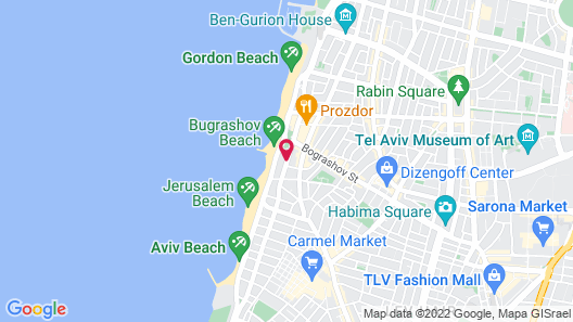 Isrotel Tower Hotel Map