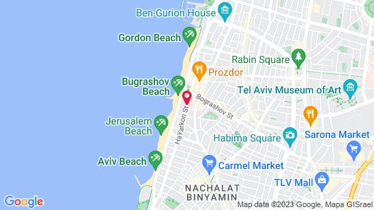 Embassy Hotel Tel Aviv Map