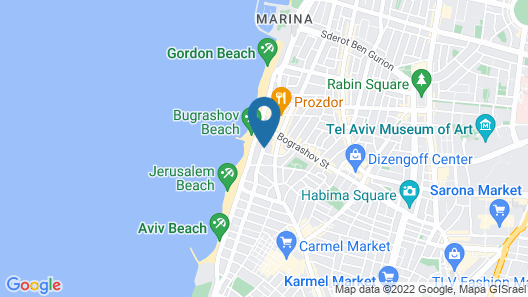 Embassy Hotel Tel Aviv Map
