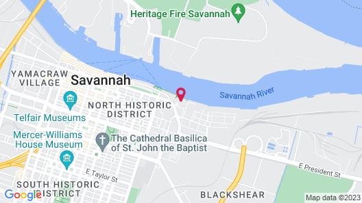 Marriott Savannah Riverfront Map