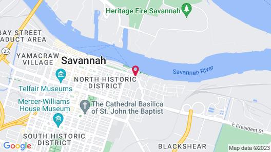 Homewood Suites Savannah Historic District/Riverfront Map