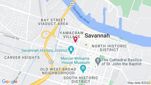 Fairfield Inn & Suites Savannah Downtown/Historic District Map