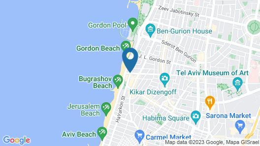 Prima Tel Aviv Hotel Map