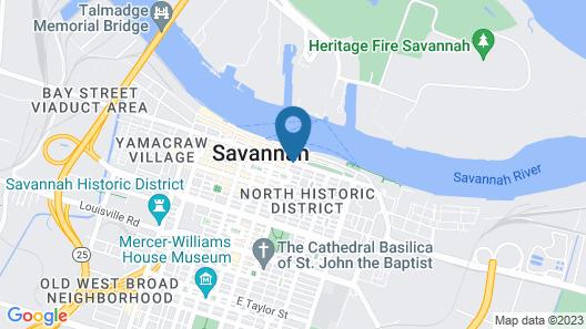 Hampton Inn Savannah-Historic District Map