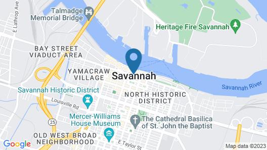 Hyatt Regency Savannah Map