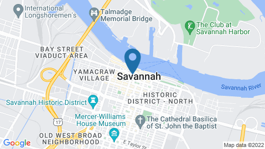 The Bohemian Hotel Savannah Riverfront, Autograph Collection Map