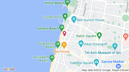 Sheraton Tel Aviv Hotel Map