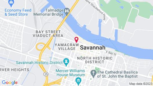 Hilton Garden Inn Savannah Historic District Map