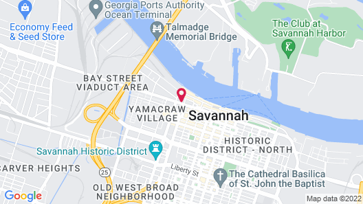 Quality Inn Savannah Historic District Map