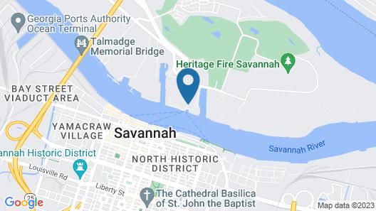 The Westin Savannah Harbor Golf Resort & Spa Map