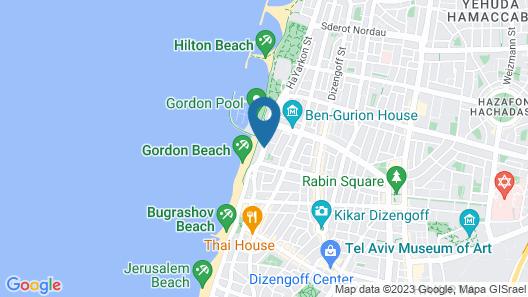 Crowne Plaza Tel Aviv Beach Map