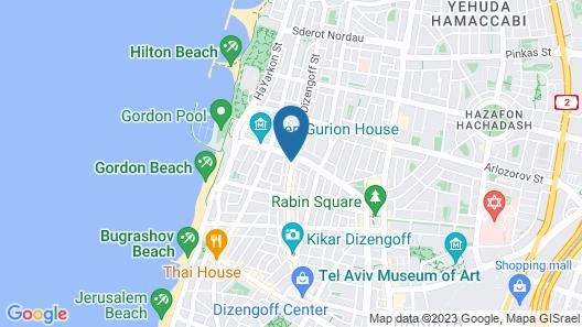 Sweet Inn Apartments -Dizengoff Street Map